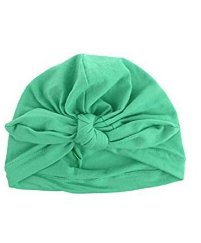 SODIAL 新生児 子供用 人気 スイミング帽子 かわいい ベビー キャップ ハット 結び目 ファッション スリーブ 柔らかい (light green)