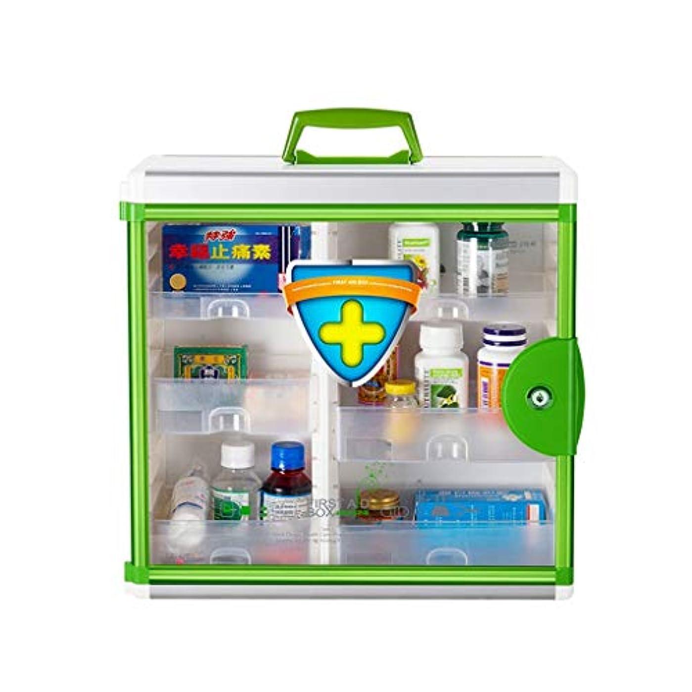 特定の協会聞きます大容量家庭用壁掛け大型薬箱薬収納ボックス応急処置 HUXIUPING (Color : Green)