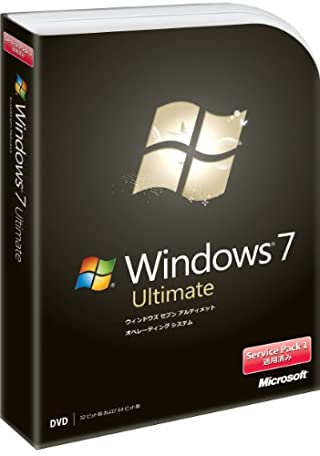 Microsoft Windows 7 Ultimate 通常版 Service Pack 1 適用済み