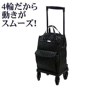 島製作所  ショッピングカー メロディスムーズ キルティングBK(黒)