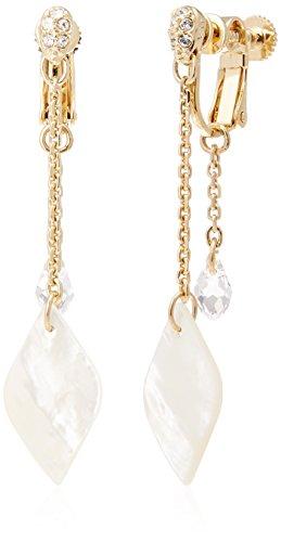[해외][방돔 부티크] VENDOME BOUTIQUE 휘야쥬 드 쿠루 스와 로브 스키 크리스탈 진주 조개 귀걸이 골드 VBME7025 DW/[Vendome Boutique] VENDOME BOUTIQUE Hugeu de Nacre Swarovski Crystal White Butterfly Shell Earring Gold gold VBME 7025 DW