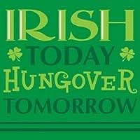 聖パトリックの日Irish Today Hungover明日Beverage Napkins ( 18ct )–パーティーテーブルウェア