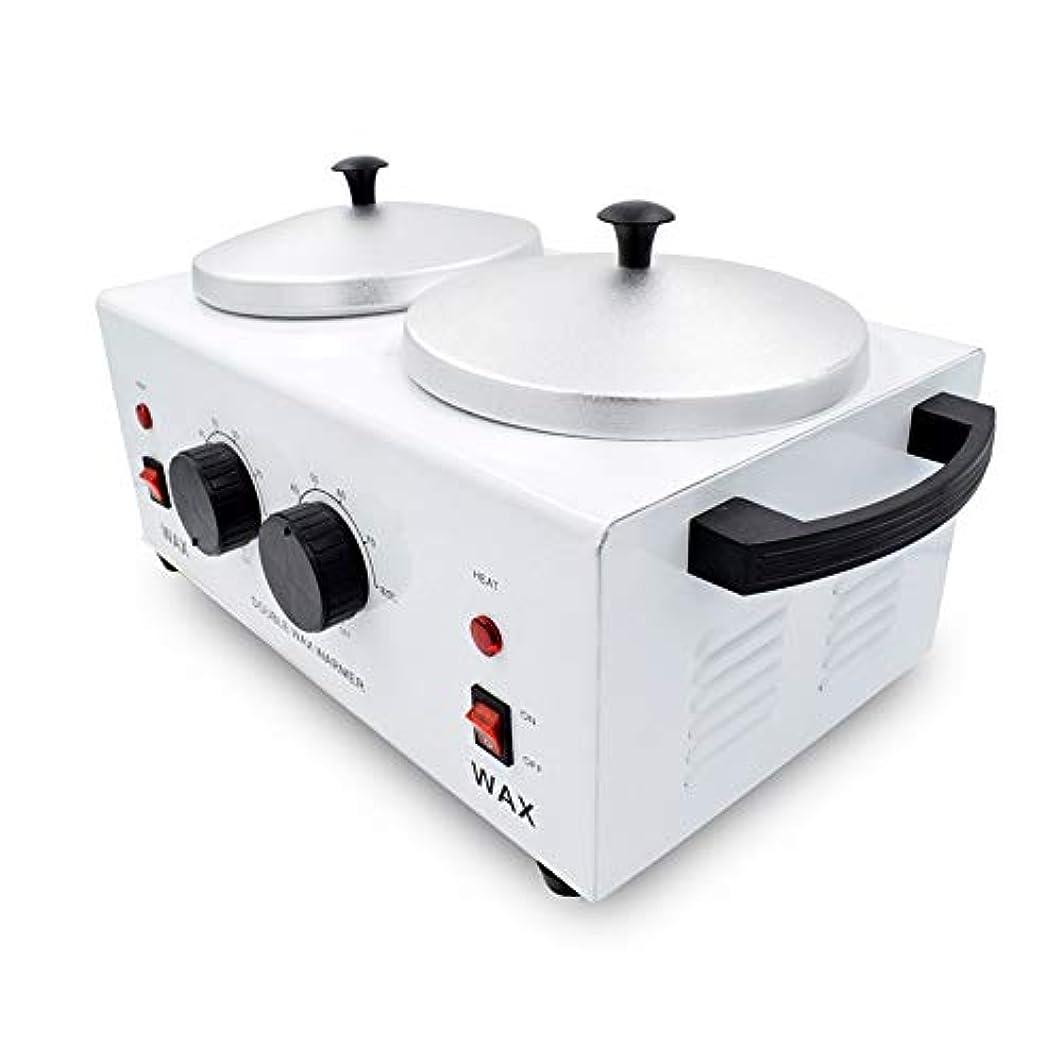 豊富な組立抑止するダブルポットワックスウォーマー、美容スパワックスヒーターポット、プロフェッショナルサロン機器、調節可能な温度、1000CC
