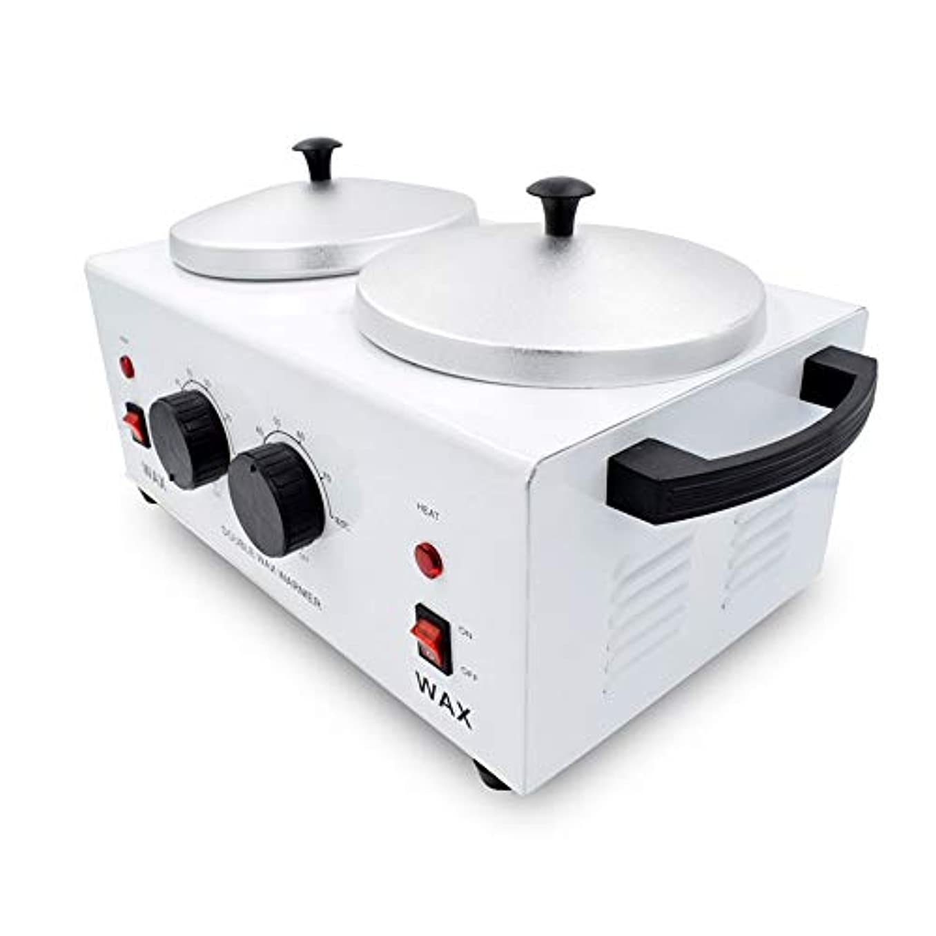 排泄する散髪プライムダブルポットワックスウォーマー、美容スパワックスヒーターポット、プロフェッショナルサロン機器、調節可能な温度、1000CC