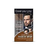 Cover Your Gray メンズカラーカバータッチアップスプレー - ダークブラウン(4パック)