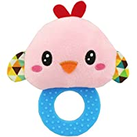 ylluckソフトRattle Teethingおもちゃ、子供ベビー乳児Bird Plush Soft Rattle Teething Toy