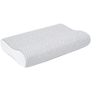 フランスベッド 低反発枕 エアレートピロー スタンダードソフト(やわらかめ) グレー [洗える枕カバー]