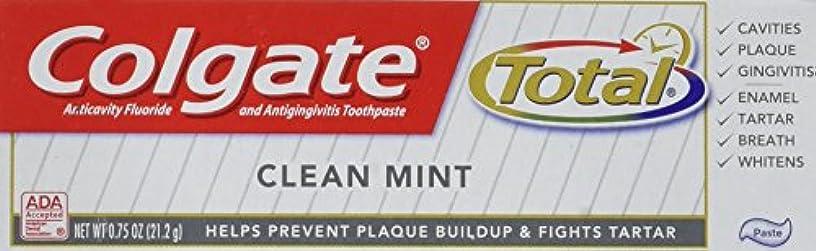 つぶす本物の放映Colgate 総ハミガキクリーンミント0.75オズ(6パック) 6パック