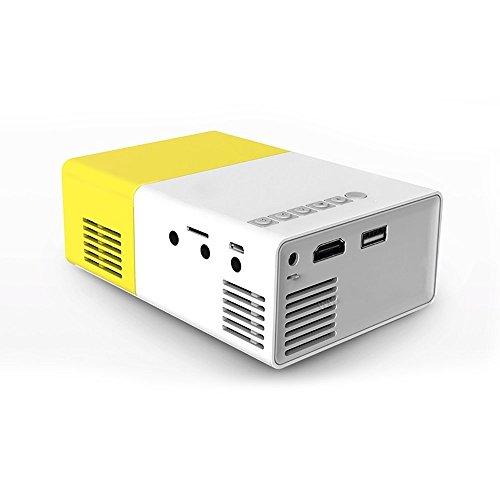 IFLYING PDK007 ミニプロジェクター ポータブル LEDプロジェクター サポートUSB/SD/AV/HDMI入力 ポケットプロジェクター ビデオ/ムービー/ゲーム用