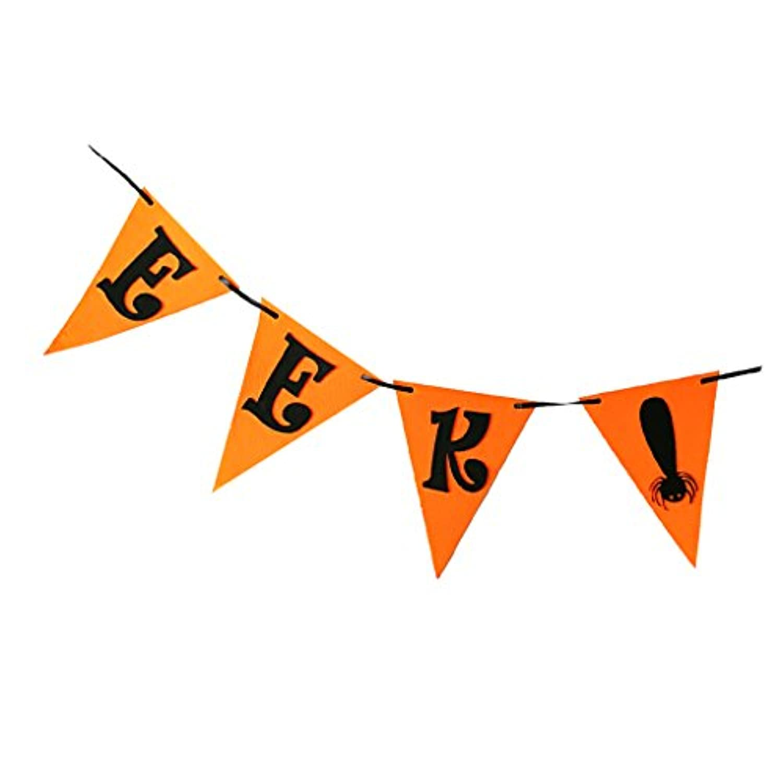 Fenteer ハロウィンバナー ガーランド 飾り EEK! バナー いたずら パーティー