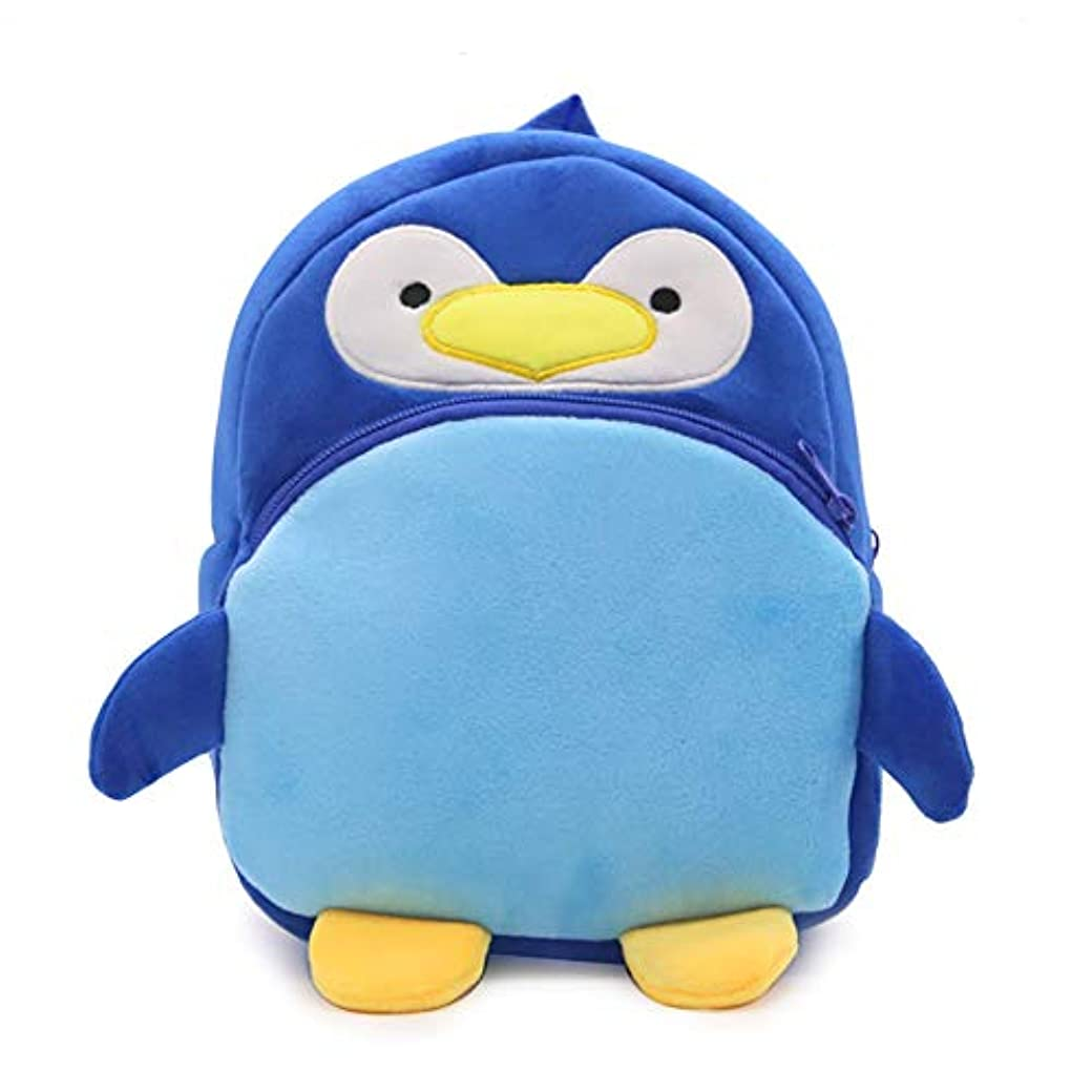その後対抗足かわいいキッズバッグ 保育園リュック 1歳 ~ 6歳通園 男の子 女の子 幼児 リュック アウトドア お出かけグッズ (ペンギン)