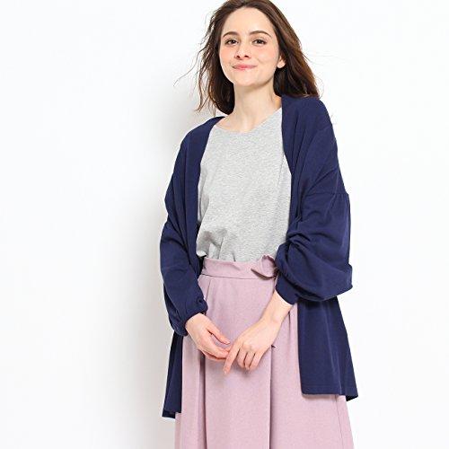 (クチュールブローチ) Couture Brooch リボン衿ロングカーディガン 50832502 38(M) ブルー系(095)