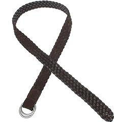Braided Suede D-Ring Belt: Black