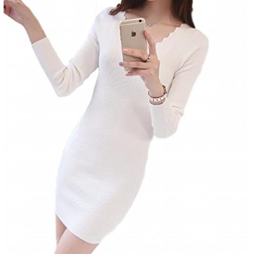 (ヴォンヴァーグ) ventvague お洒落 エレガント きれいめ 綺麗め 上品 デザイン ボトル ネック 白 白色 しろ white チュニック ワンピース 女子 女子力 レディス 女性 婦人 レディー 女 レディース (ホワイト)