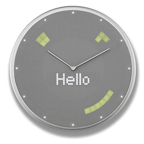Glance Clock グランスクロック スケジュール 天気予報 タイマー アラーム LED表示 IoT クロック 【日本正規代理店商品】 (Silver)