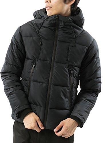(アーケード) ARCADE ボリュームフード 中綿ダウンジャケット タイト メンズ ハイスペック仕様 M ブラック