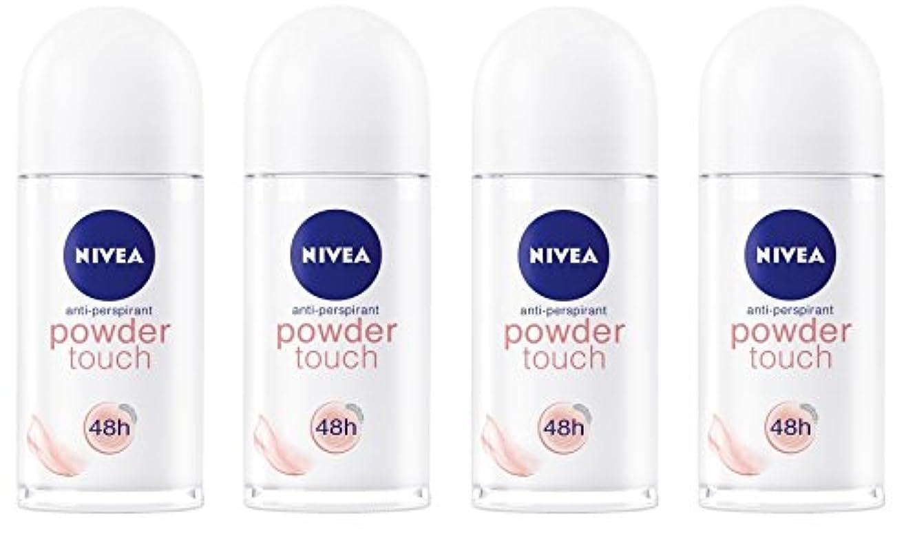 する必要がある思慮のない行商(Pack of 4) Nivea Powder Touch Anti-perspirant Deodorant Roll On for Women 4x50ml - (4パック) ニベアパウダータッチ制汗剤デオドラントロールオン女性のための4x50ml