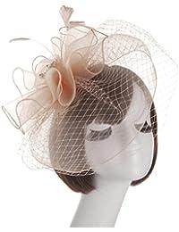 ヘッドドレスヨーロッパとアメリカブライダルハットメッシュフェザーハット宴会レディース帽子ウェディングアクセサリー ( 色 : 8# )