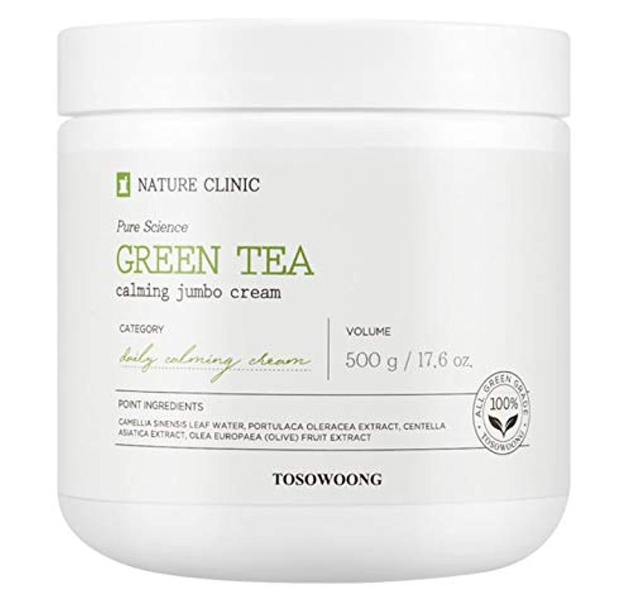 ファイアルガイドライン豊富な[TOSOWOONG] トソウン緑茶水分クリーム 500g / TOSOWOONG GREEN TEA CREAM 500g / NATURAL MOISTURE SOOTHING CALMING [並行輸入品]