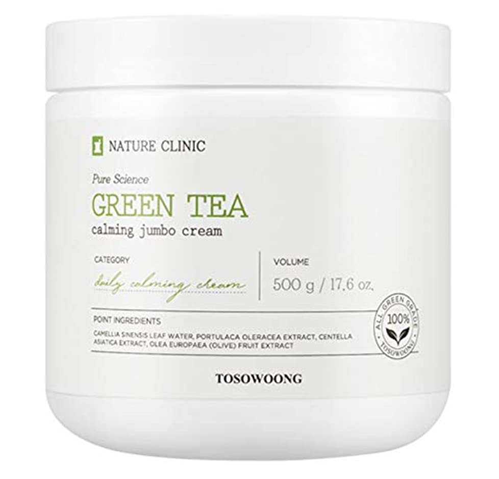 [TOSOWOONG] トソウン緑茶水分クリーム 500g / TOSOWOONG GREEN TEA CREAM 500g / NATURAL MOISTURE SOOTHING CALMING [並行輸入品]