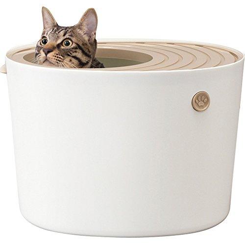 アイリスオーヤマ 上から猫トイレ プチ ホワイト PUNT-430