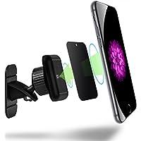 VENA ダッシュボード フロントガラス 磁気カーマウントホルダー スマホスタンド マグネット式車載携帯方形ホルダー【粘着式 | 360度回転可能 | メタルプレートが2枚付き | 3M粘着テープ付】iPhone X/8 Plus/8, Galaxy Note 8/S8 Plus/S8 対応 (ブラック)