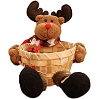 TeFuAnAn クリスマス装飾 キャンディバスケット クリスマスデスクトップ装飾 クリスマス装飾アップルバッグ クリスマス バスケット キャンディーバスケット 収納バスケット 収納箱 クリスマスプレゼント 可愛い飾り