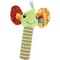 Baosity 4カラー ベビーおもちゃ 手のラトル 発達玩具 スクイーズスティック 動物ぬいぐるみ - #2