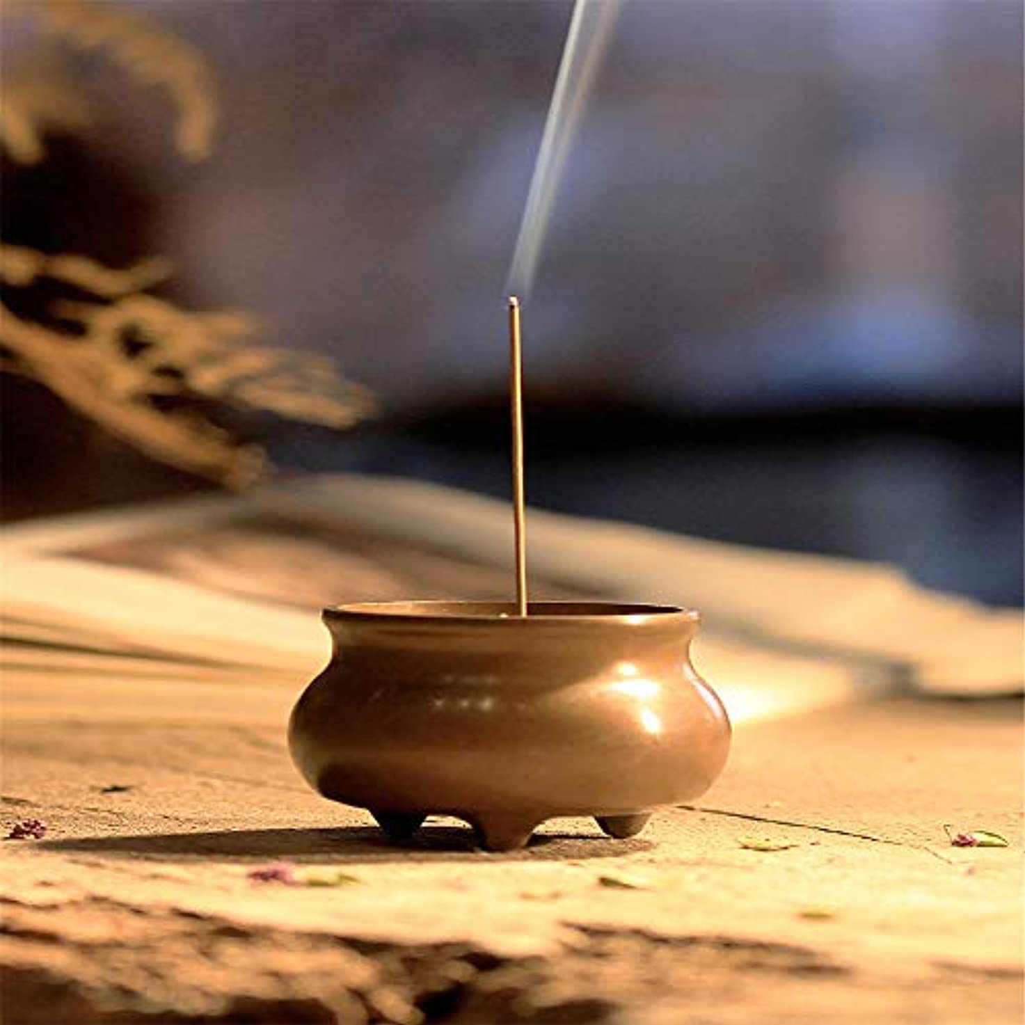 閉塞トロリーバススラムミニ家庭用銅香炉寒天炉小さな銅炉ホームオフィス茶室ホーム装飾用香炉に戻る4.8 * 3.8 * 3.6 cm
