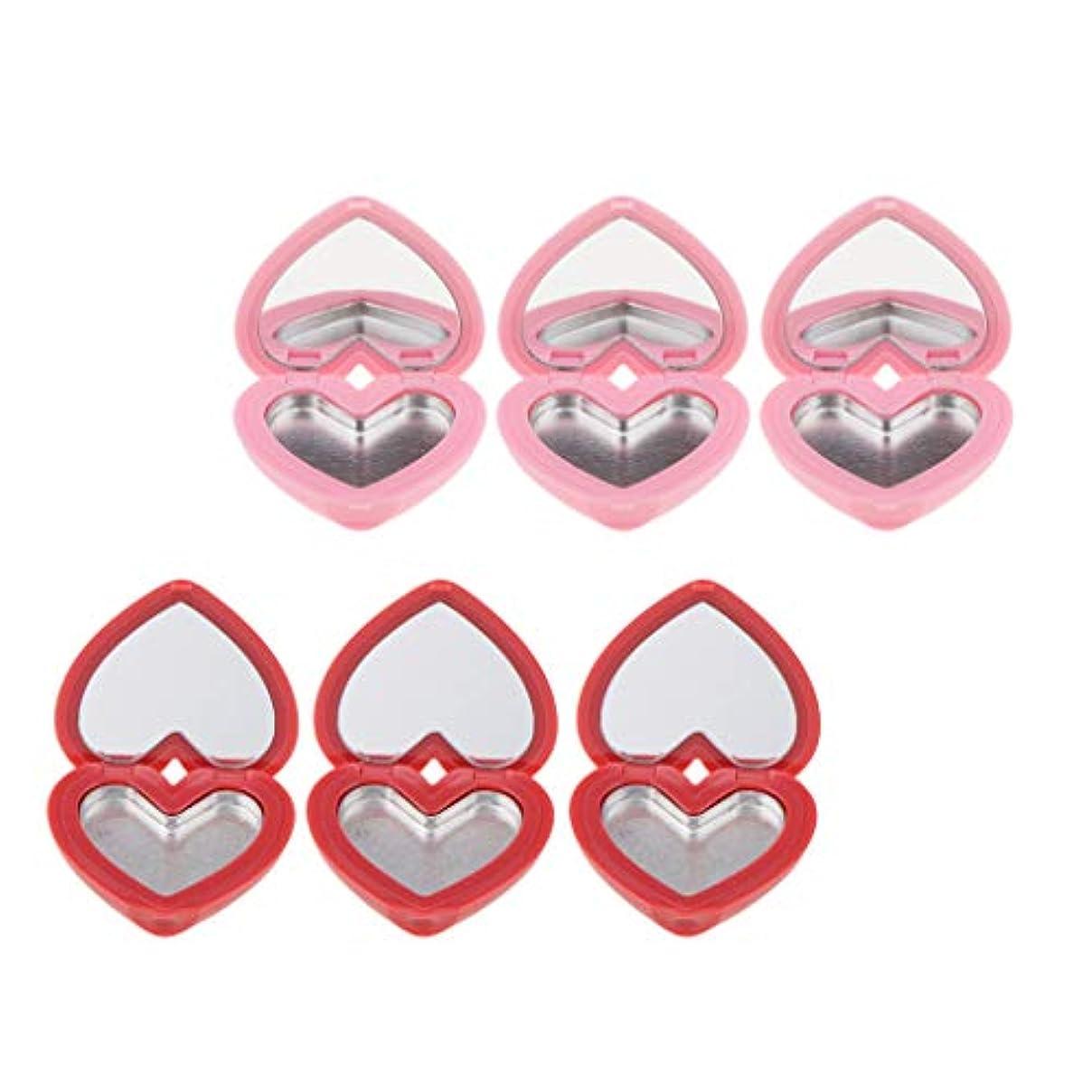 レスリング切り下げ退屈させる6個 空ケース 口紅ホルダー メイクアップパレット 空パレット コスメ 化粧品 詰替え DIY収納ケース