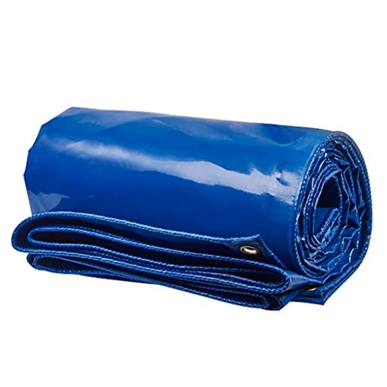 数学お手伝いさん夕食を作るタープ 防水防水ポリ塩化ビニールの青い防水シート、日焼け止めの酸化防止のべと病の証拠の破損抵抗 テント (Color : Blue, Size : 3m × 4m)