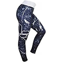 Gecter Yoga Pants for Women Printed stretch High Waisted Workout Running Exercise Leggings Pants Red