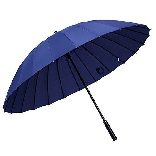 [해외]Evfun 우산 24 개의 뼈 길이 우산 강화 유리 섬유 傘骨 耐風傘 남녀 겸용 (감색)/Evfun Umbrella 24 bones long umbrella reinforced glass fiber umbrella breeze resistant umbrella unisex dual use (navy blue)