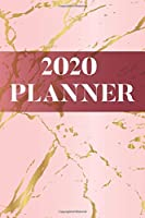 2020 Planner: Monthly Weekly Vertical Days Dated Agenda with Monday Start | January through December Organizer | Pink Marble Design (Lady Boss Series)