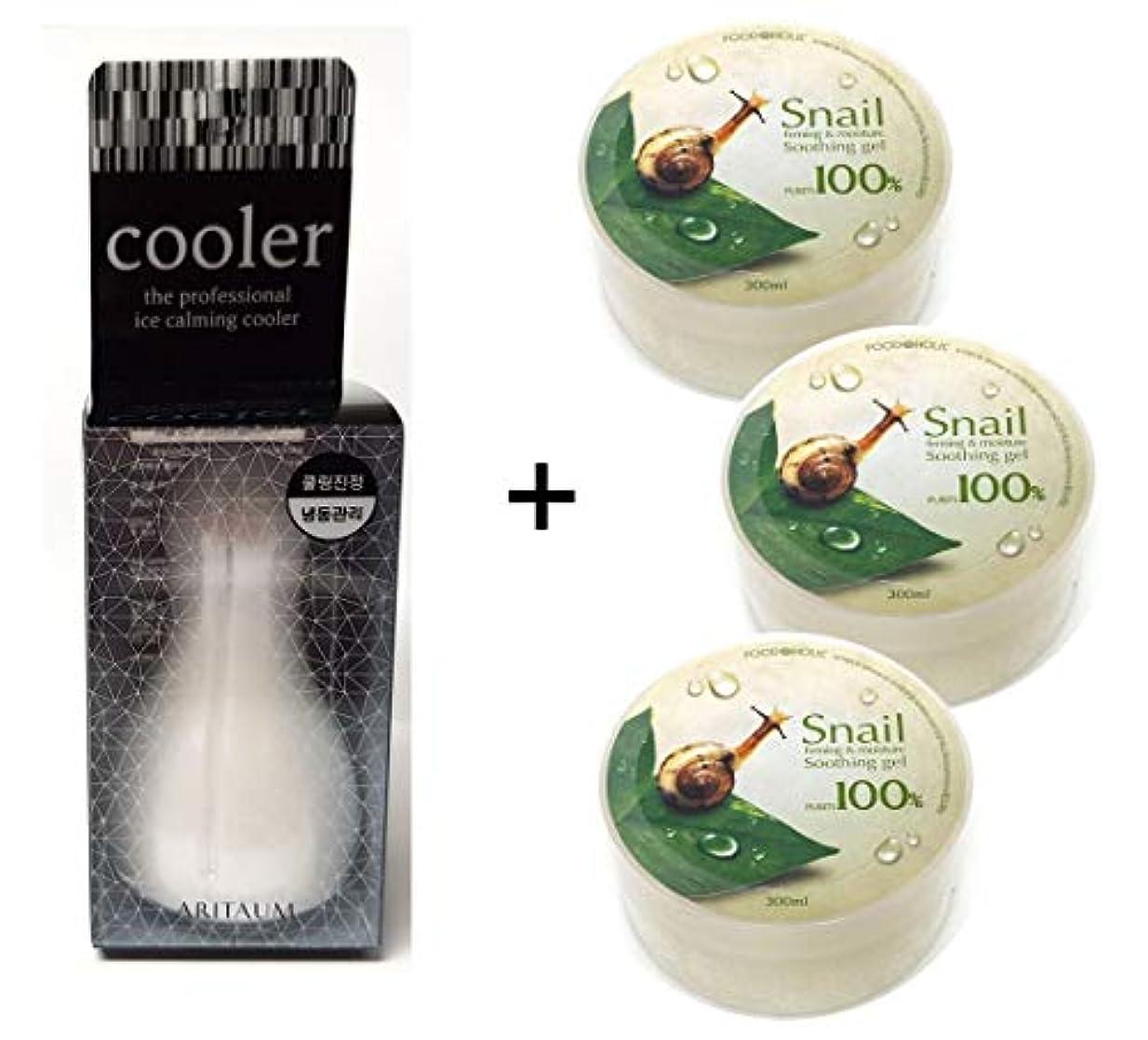 エキゾチックアマチュア回路[Aritaum]アイスカミングクーラー1EA + カタツムリスージングジェル3EA / Ice Calming Cooler 1EA + Snail Soothing gel 3EA / フェイスボディクール冷凍/スキンマッサージ...