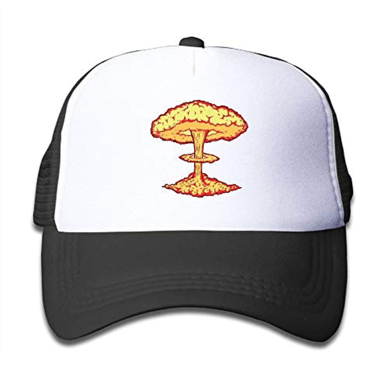 原子 爆発 素敵 かわいい おもしろい ファッション 派手 メッシュキャップ 子ども ハット 耐久性 帽子 通学 スポーツ