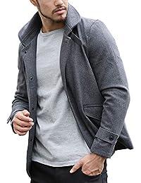 ARCADE(アーケード) メンズ メルトンウール ラウンドカラー シングルジャケット