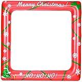 BESTOYARD クリスマスインフレータブルフレームフォトブースの小道具爆破パーティー小道具パーティーSelfieフォトフレームクリスマスパーティー(71cmx71cm)