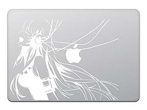 カインドストア MacBook Air/Pro 11 / 13インチ マックブック ステッカー シール アニメ ミュージック ガール Music Girl ホワイト M741-W