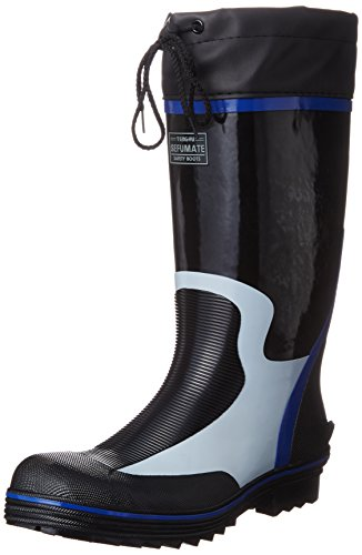 [フジテブクロ] 安全長靴 作業靴 カバー付 セーフティブーツ 892 メンズ BLACK 25.5cm