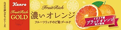 フルーツリッチのど飴GOLD 濃いオレンジ 10本