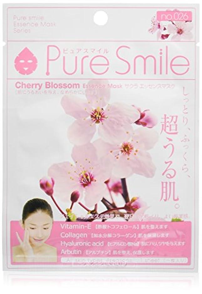 強制執着太字Pure Smile ピュアスマイル エッセンスマスク サクラ 6枚セット