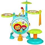 X-キッズドラム 子供用ドラム初心者早期教育パズルジャズドラムビートドラム音楽玩具3-6歳 (色 : A)
