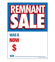 "g60ret Remnant Sale Was Now – グロメット補強(真鍮リング) Saleタグ – 5 "" x 7 "" ( 100パック)カーペットとフローリングストア価格カード10ptカードストックfor Easy Writing"