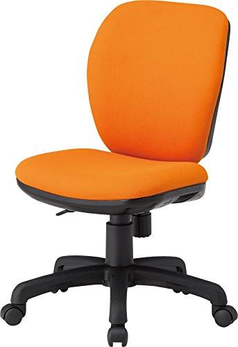 TOKIO デスクチェア オフィスチェア 肘なし オレンジ ...