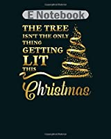 E Notebook: merry christmas christmas tree christmas tree  College Ruled - 50 sheets, 100 pages - 8 x 10 inches