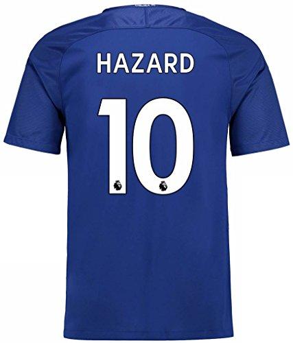 NIKE(ナイキ) チェルシーFC ホームユニフォーム 2017/18 [プレミアリーグチャンピオンバッジ付き] [10 アザール] [サイズ:インポートL] Chelsea FC Home Shirt 2017/18 [Premier League Champions Badge] [10 Hazard] [Size:Import L] [並行輸入品]
