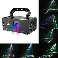 パーティーライト3D効果ディスコライトカラオケKTVクラブパーティーウェディングバークリスマスのためのリモートコントロールLEDポータブルステージプロジェクター 1/18 (Color : Purple beam)