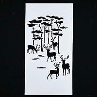 再利用可能なステンシルエアブラシ絵画DIYホームインテリアスクラップブッキングアルバムクラフトフラワーレイヤープラスチックステンシルコーヒーケーキモールド:5