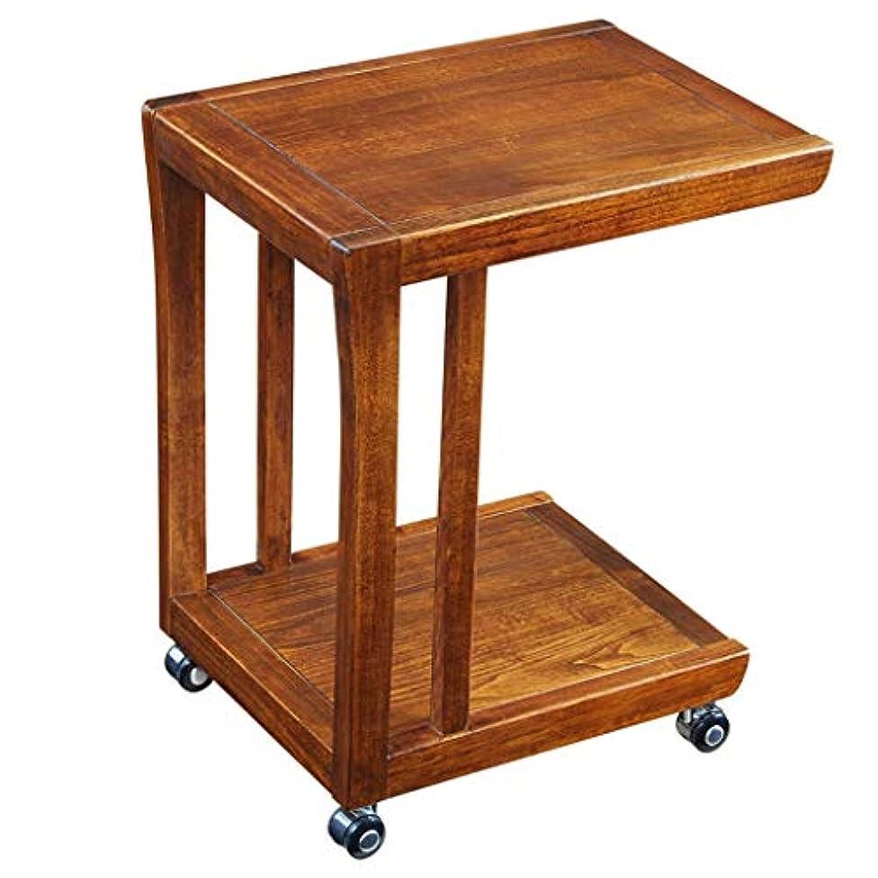 HY 小さなサイドテーブル多機能ミニモバイル小さなコーヒーテーブルソファープーリー